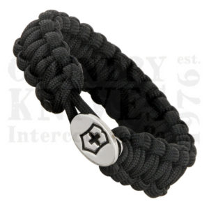 Buy Victorinox Swiss Army 58116 Survival Bracelet, Black Paracord at Country Knives.
