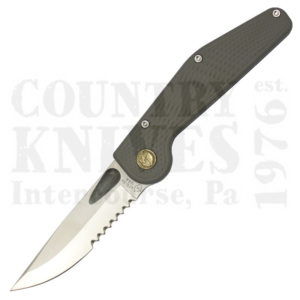 Buy GT Knives  GT-GY-S Button-Lock Folder, Original / Grey / Partially Serrated / No Clip at Country Knives.