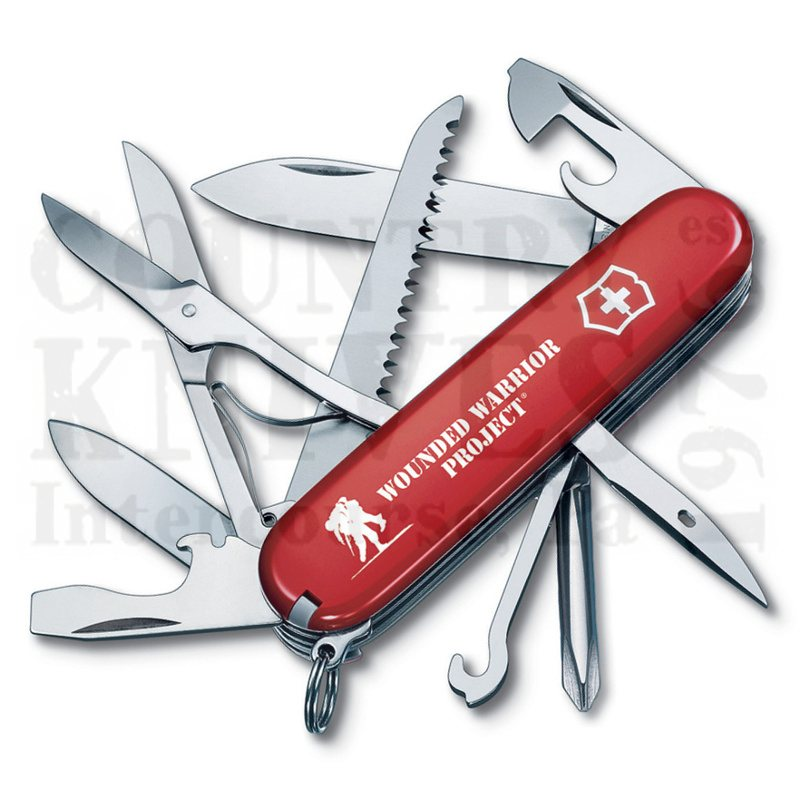 Buy Victorinox Swiss Army 55074.US2 Fieldmaster - Red with WWP Logo at Country Knives.