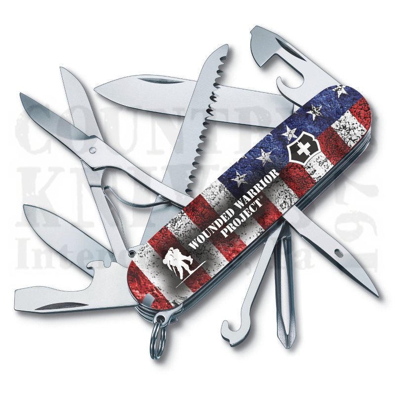 Buy Victorinox Swiss Army 55075.US2 Fieldmaster - American Flag with WWP Logo at Country Knives.