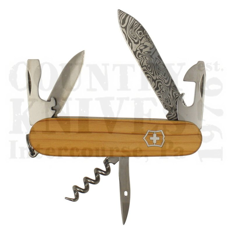 Buy Victorinox Swiss Army 1.3601.J14 Spartan Damast - Damascus / Yew at Country Knives.