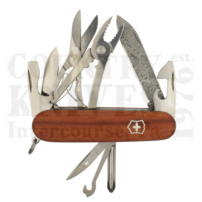 Buy Victorinox Swiss Army 1.4721.J18 Deluxe Tinker Damast - Plum Wood at Country Knives.