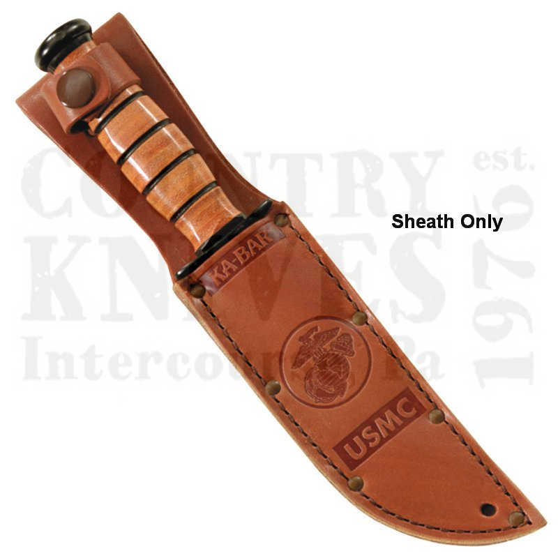 Buy Ka-Bar  KB1250S Short USMC Sheath - Leather at Country Knives.