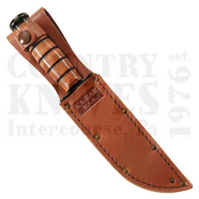 Buy Ka-Bar  KB1251S Short USA Sheath - Leather at Country Knives.