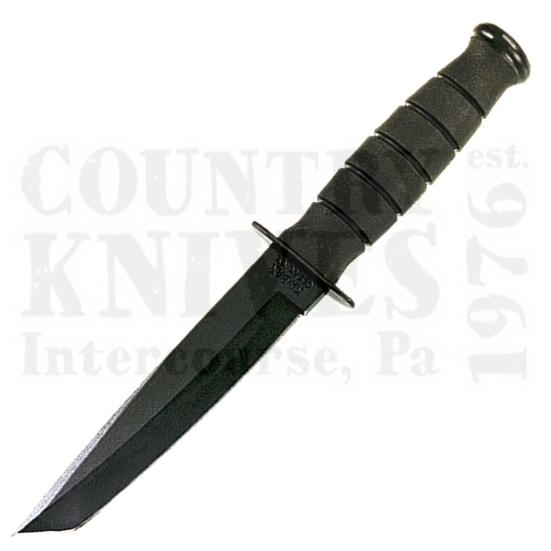 Buy Ka-Bar  KB1254 Short Black Tanto - Straight / Leather Sheath at Country Knives.