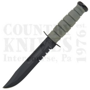 Buy Ka-Bar  KB5012 Foliage Green Fighter - Serrated / FRN Sheath at Country Knives.