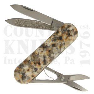 Buy Victorinox Swiss Army 0.6200.58 Classic RocKnife - Baltic Brown Granite – Russia at Country Knives.