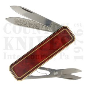 Buy Victorinox Swiss Army 0.6210.81 Classic De Luxe - Red Marbled Cloisonné at Country Knives.