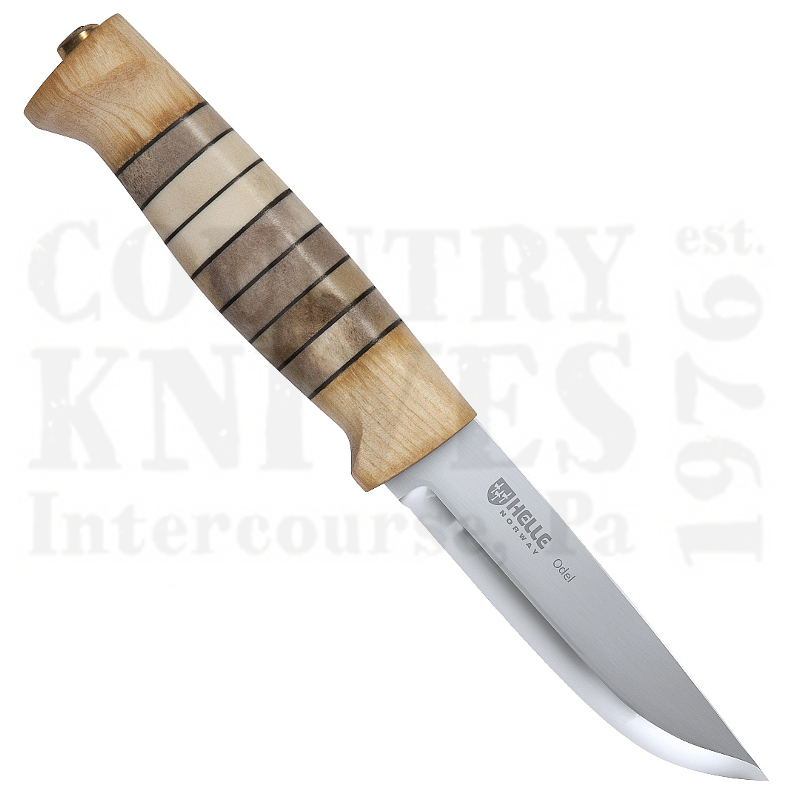 Buy Helle  HE15 Odel - Curly Birch & Reindeer Antler at Country Knives.