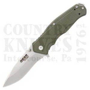 Buy Bear & Son  B61102 Bear Edge 102 - Satin / Green G-10 at Country Knives.