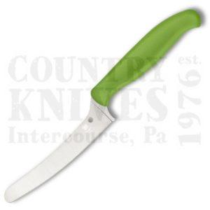 Spyderco | Spyderco CulinaryK13PGNBlunt Tip Z-Cut – PlainEdge / Green