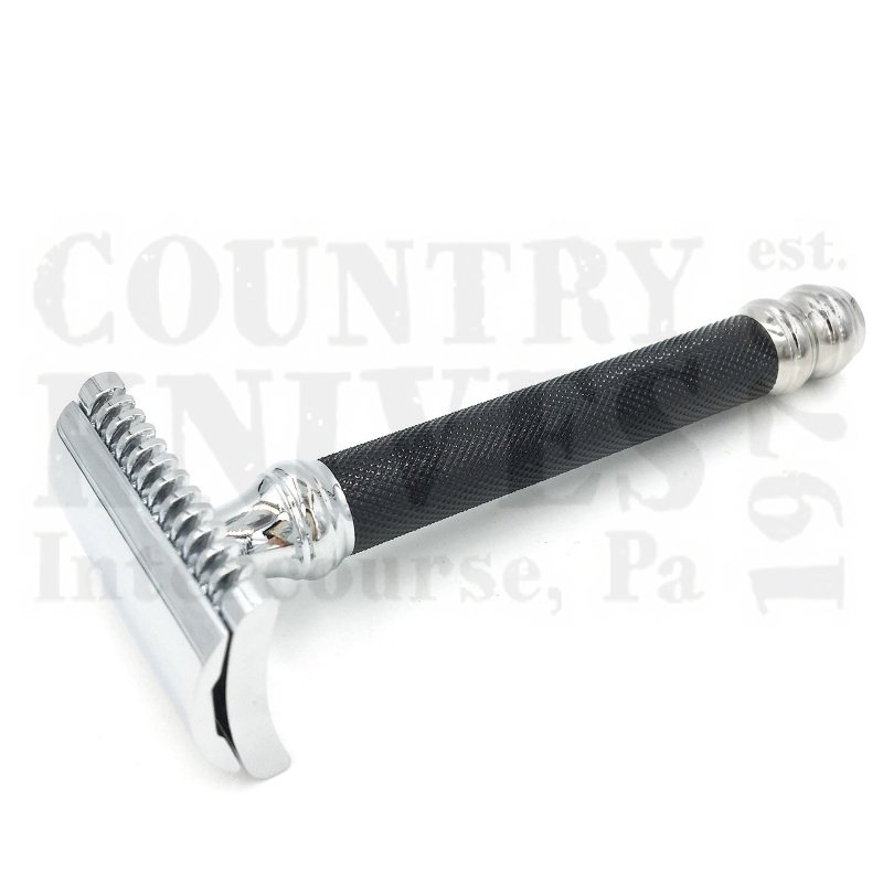 Buy Parker  PR26C Safety Razor - Comb / Double Ball / Black Knurled at Country Knives.