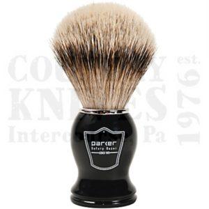 ParkerBHSTShaving Brush – Black / Silver Tip
