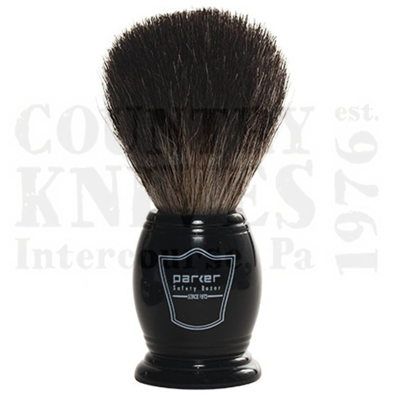 Buy Parker  PRBKBB Shaving Brush - Black / Black Badger at Country Knives.