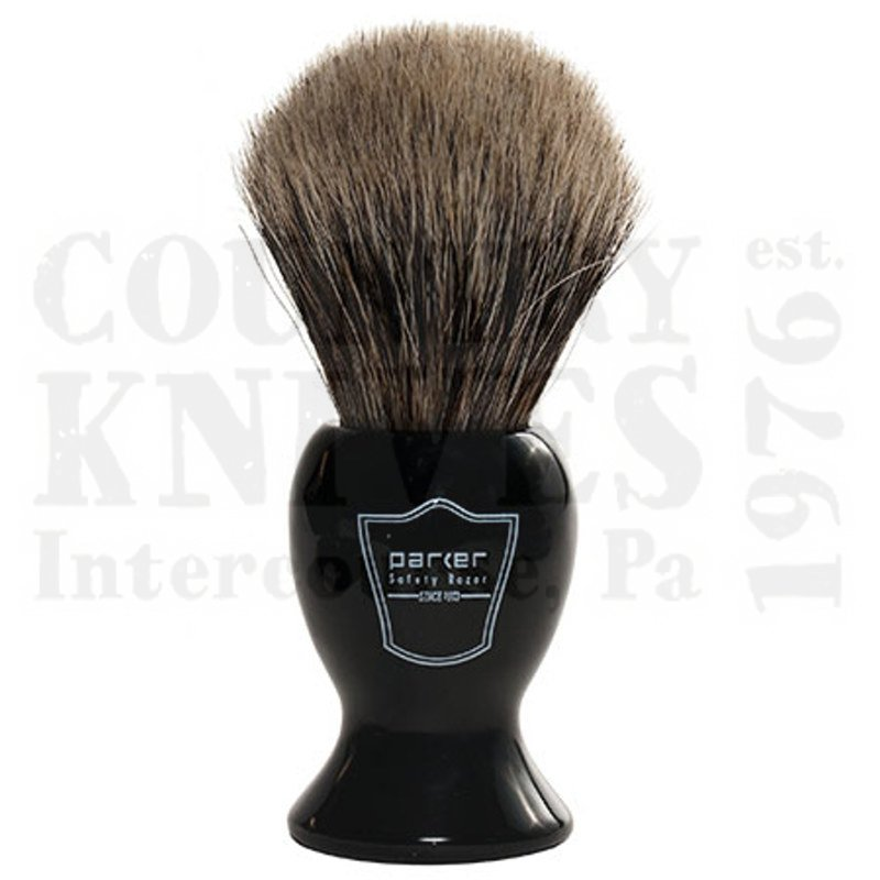 Buy Parker  PRBKPB Shaving Brush - Black / Pure Badger at Country Knives.