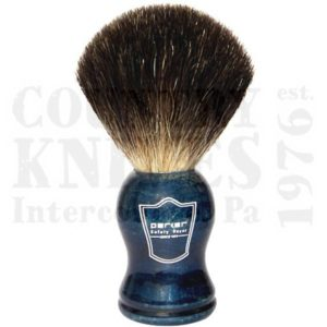 Buy Parker  PRBLBB Shaving Brush - Blue Wood / Black Badger at Country Knives.