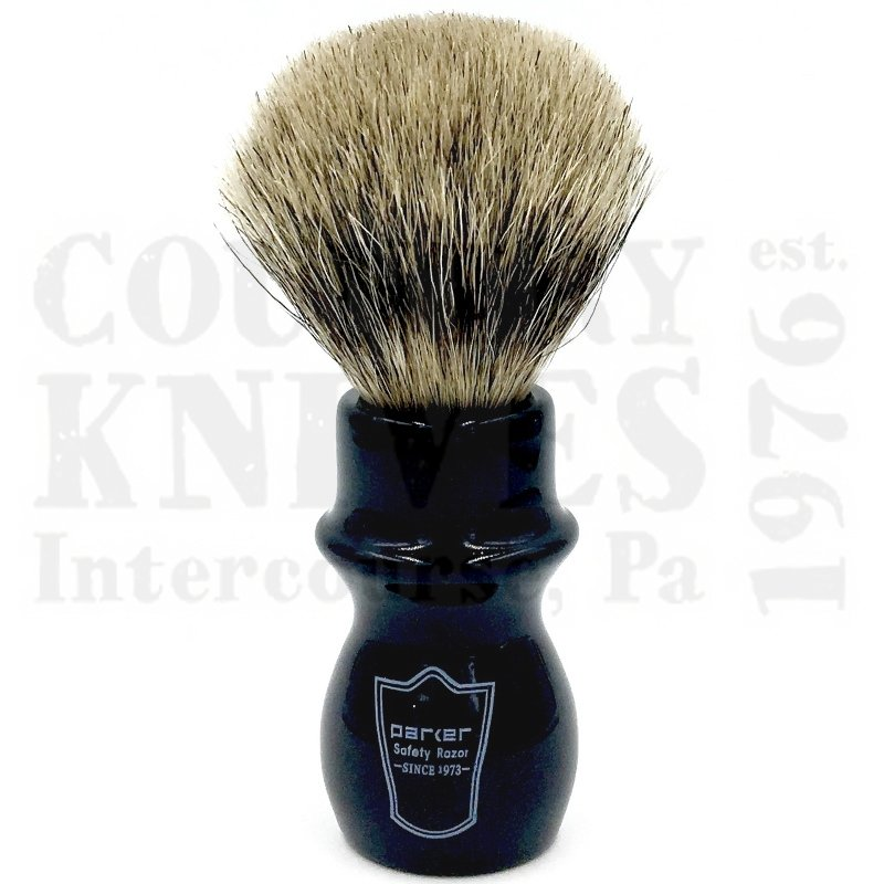 Buy Parker  PRBMPB Mug Shaving Brush - Black / Pure Badger at Country Knives.