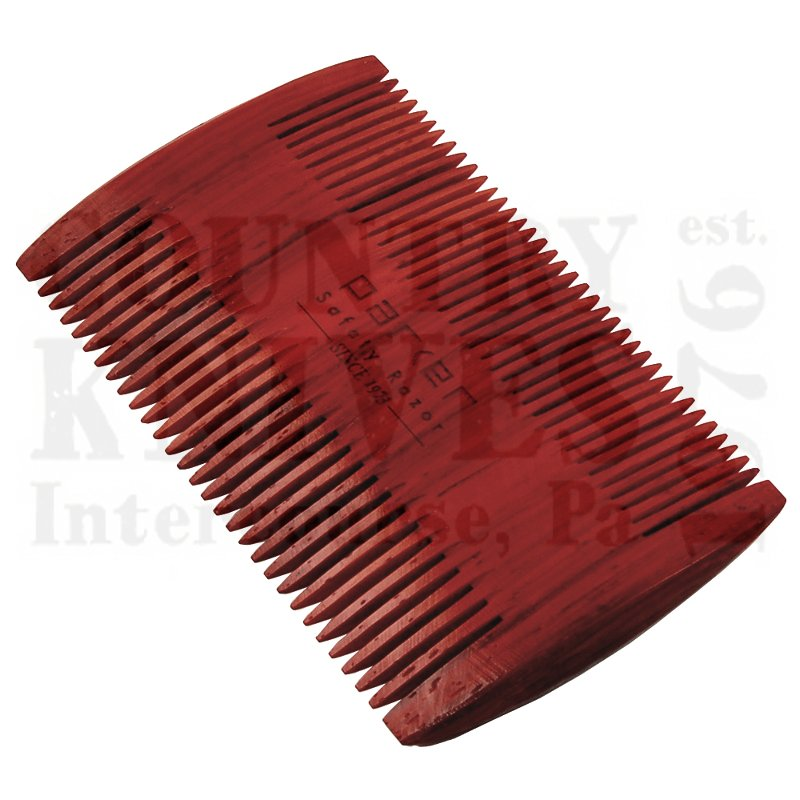 Buy Parker  PRBRDCMB2 Double-Sided Beard Comb - Rosewood at Country Knives.