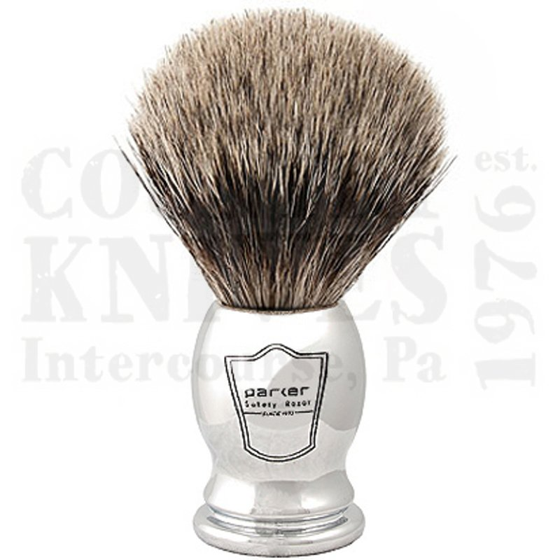 Buy Parker  PRCHPB Shaving Brush - Chrome / Pure Badger at Country Knives.