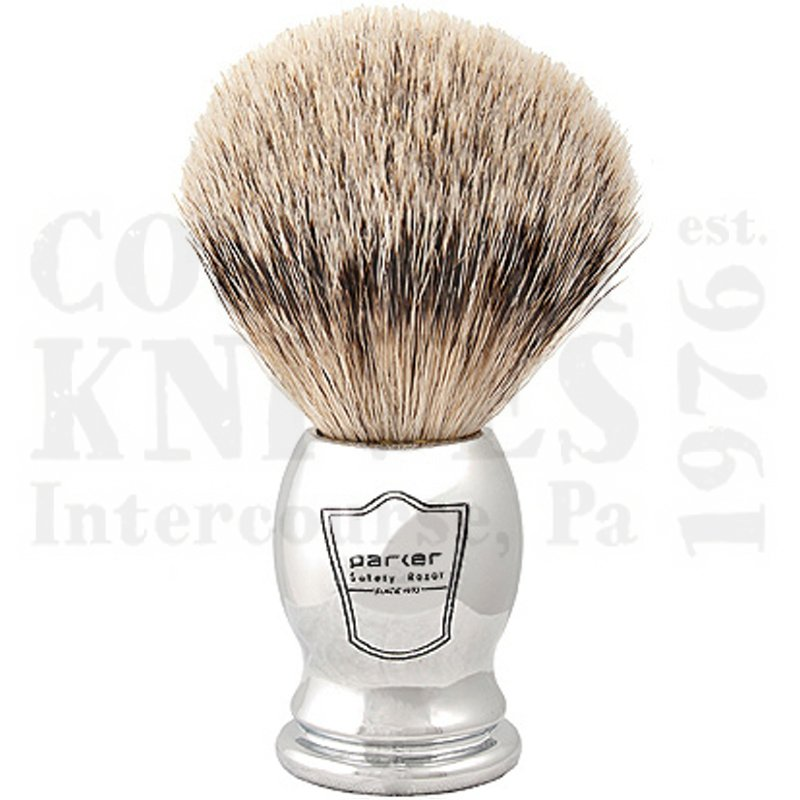 Buy Parker  PRCHST Shaving Brush - Chrome / Silver Tip at Country Knives.