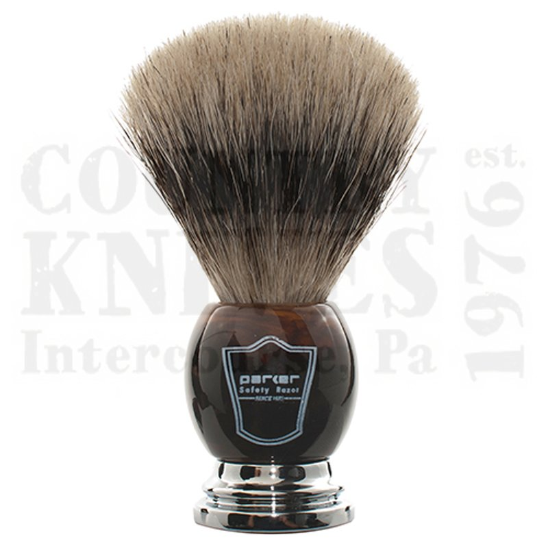 Buy Parker  PRHHPB Shaving Brush - Faux Horn / Pure Badger at Country Knives.