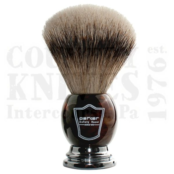 Buy Parker  PRHHST Shaving Brush - Faux Horn / Silver Tip at Country Knives.