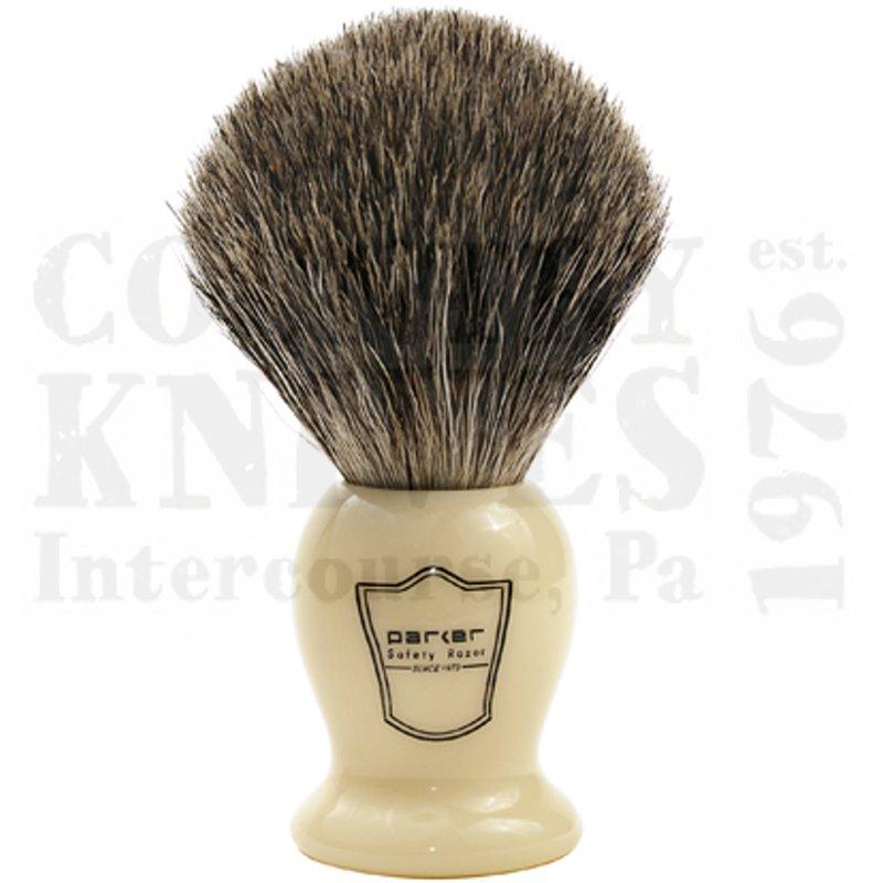 Buy Parker  PRIHPB Shaving Brush - Ivory / Pure Badger at Country Knives.