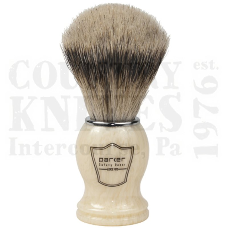 Buy Parker  PRIHST Shaving Brush - Ivory / Silver Tip at Country Knives.