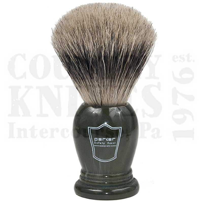 Buy Parker  PRLGPB Shaving Brush - King Size / Forest Green / Pure Badger at Country Knives.