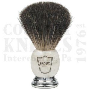 ParkerMIBBShaving Brush – Marbled Ivory / Black Badger