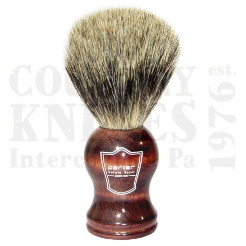 Buy Parker  PRRWPB Shaving Brush - Rosewood / Pure Badger at Country Knives.