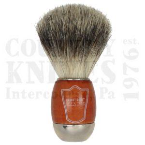 ParkerSWCPBShaving Brush – Schima & Chrome / Pure Badger