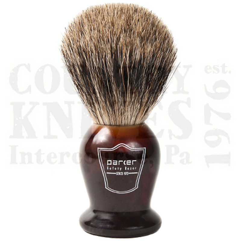 Buy Parker  PRTHPB Shaving Brush - Tortoise / Pure Badger at Country Knives.
