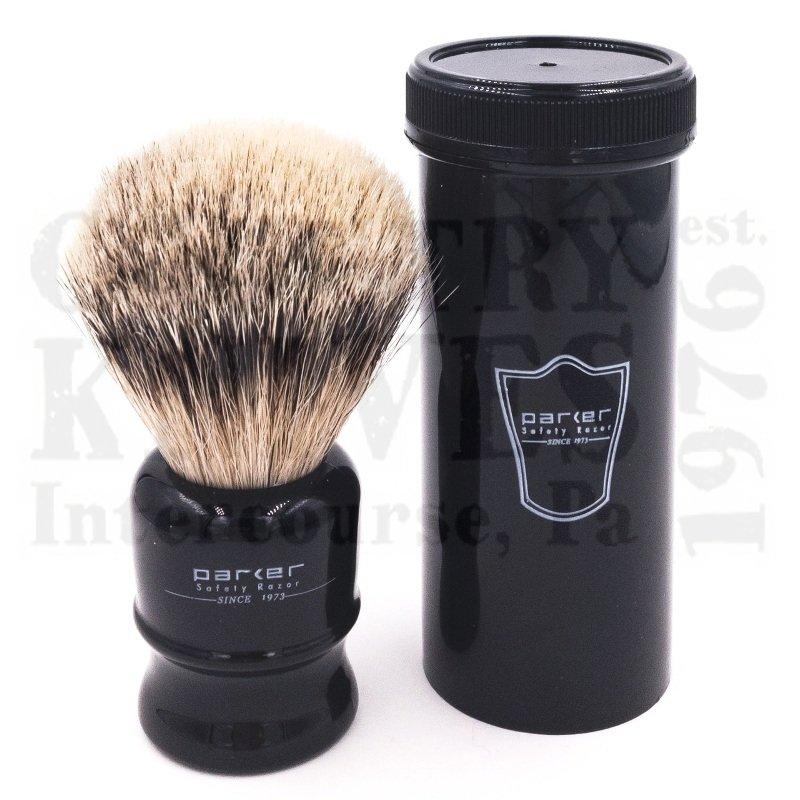 Buy Parker  PRTRAVBHST Travel Shaving Brush - Silver Tip at Country Knives.
