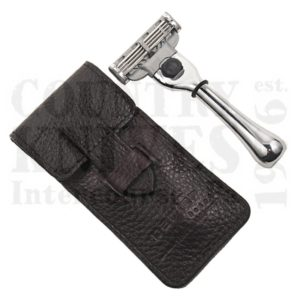 Buy Parker  PRTRAVM3 Mach 3 Razor - Chrome / Leather Case at Country Knives.