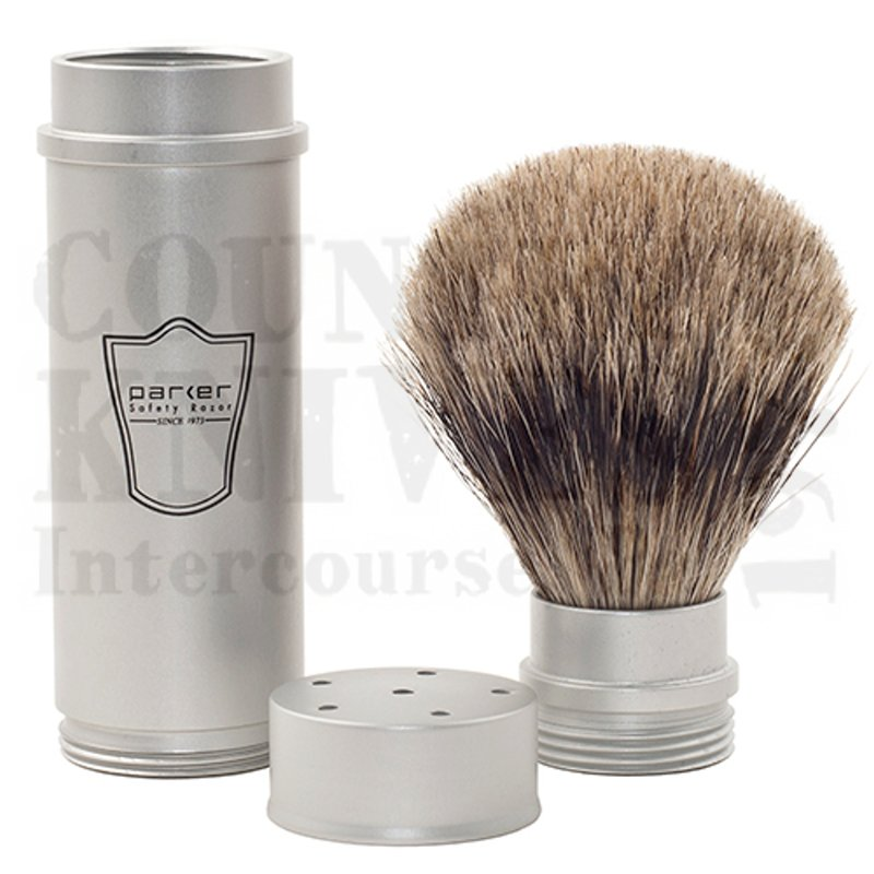 Buy Parker  PRTRAVPB Shaving Brush - Pure Badger at Country Knives.