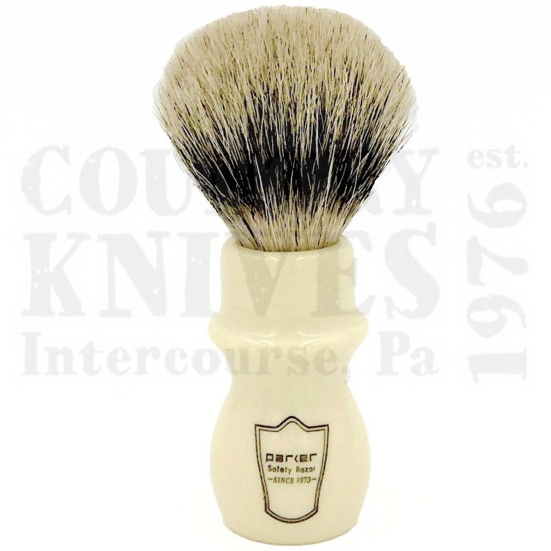 Buy Parker  PRWMST Mug Shaving Brush - White / Silver Tip at Country Knives.