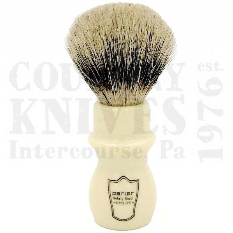 Buy Parker  PRWMST Mug Shaving Brush - White / Silver Tip at Country Knives.