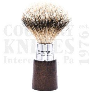 ParkerWNSTShaving Brush – Walnut & Chrome / Silver Tip