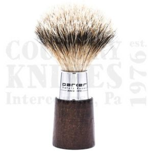Buy Parker  PRWNST Shaving Brush - Walnut & Chrome / Silver Tip at Country Knives.