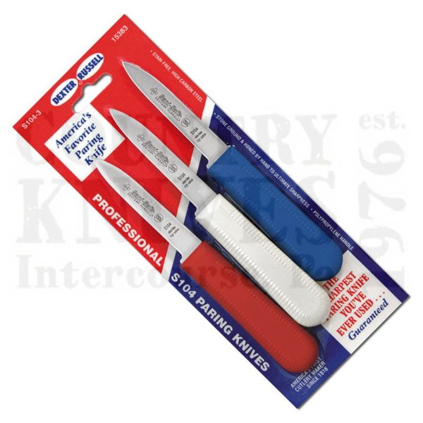 Buy Dexter-Russell  DR15493 Three Pack of S104 Paring Knives -  at Country Knives.