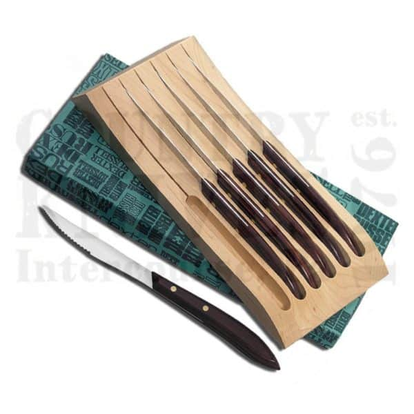 Buy Dexter-Russell  DR20111 Six Piece Steak Knife Set - Maple Tray at Country Knives.