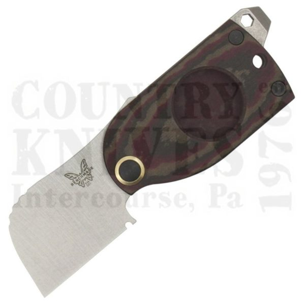 Buy Benchmade  BM381 Aller Fumée - Chocolate/Brown/Red Richlite at Country Knives.