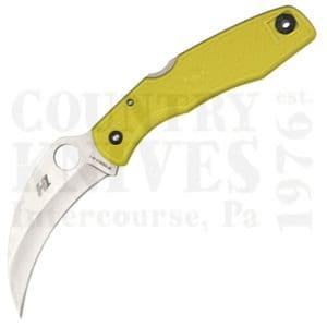 Buy Spyderco  C77PYL SpyderHawk Salt - YELLOW FRN / PlainEdge at Country Knives.