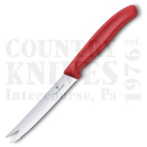 Buy Victorinox Forschner 6.7861 3⅜'' Tomato Knife - Red at Country Knives.