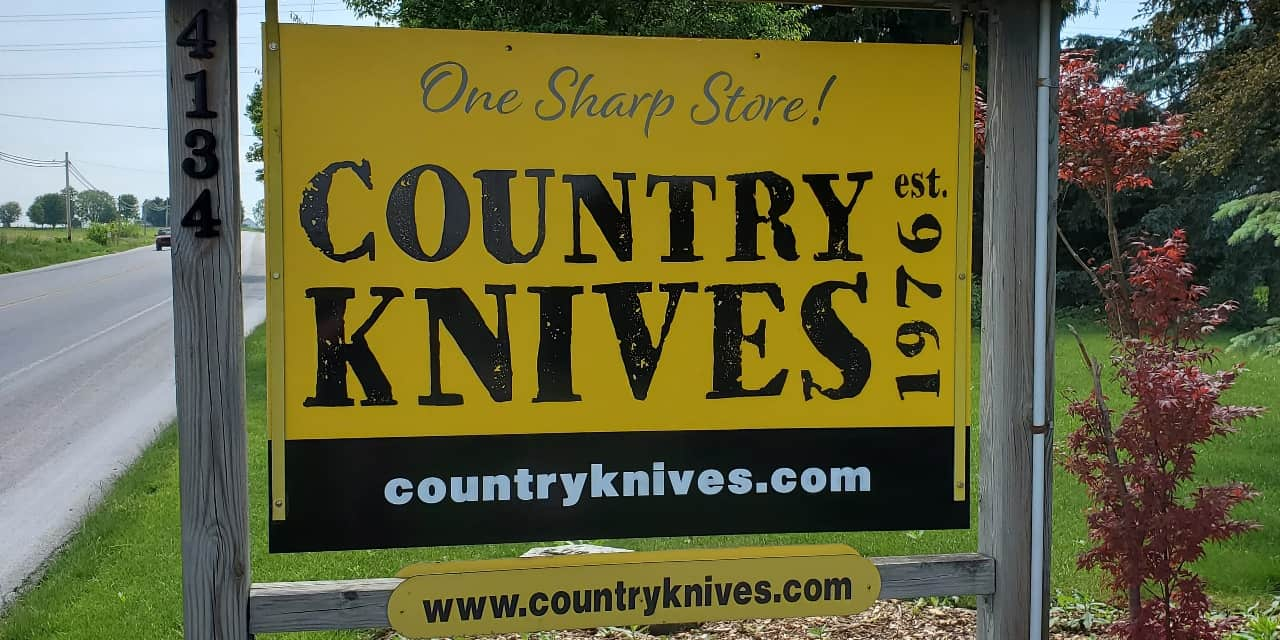 Country Knives New Front Sign