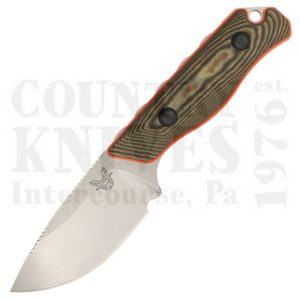 Buy Benchmade  BM15002-1 Saddle Mountain Skinner - Richlite & Orange G10 / S90V at Country Knives.