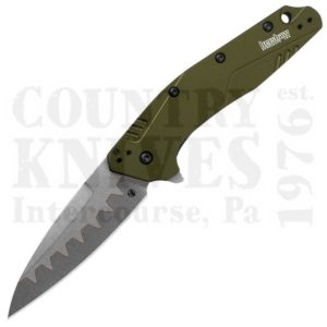 Buy Kershaw  K1812OLCB Dividend - D2 Composite / Olive Aluminum at Country Knives.