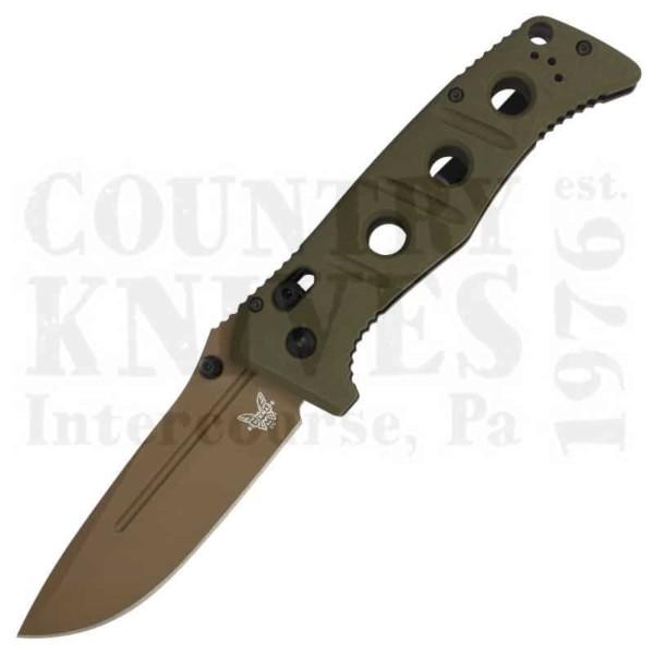 Buy Benchmade  BM275FE-2 Adamas - Flat Earth Cerakote / Cru-Wear / OD G-10 at Country Knives.