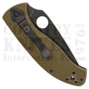 Buy Spyderco  C122PSODBK Tenacious Lightweight - OD FRN / CombinationEdge / Black at Country Knives.
